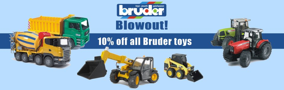 10% off all Bruder toys