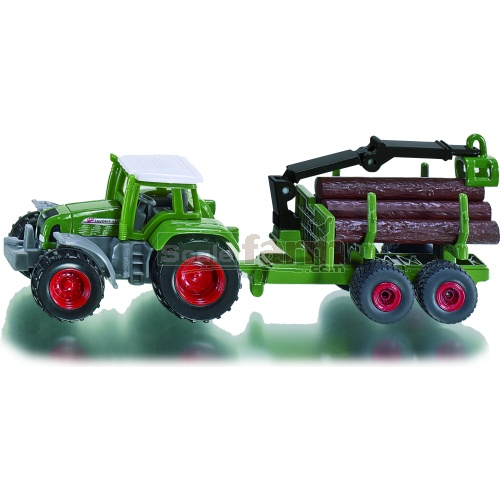 Fendt Favorit 926 Tractor with Forestry Trailer (SIKU 1645)
