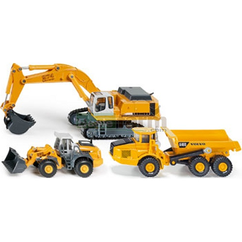 3 Piece Liebherr / Volvo Construction Set (SIKU 1810)