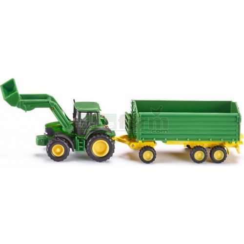 John Deere 6920 S Tractor with Front Loader and Tipping Trailer (SIKU 1843)