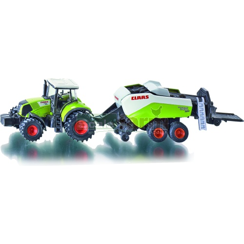 CLAAS Axion 850 Tractor With Quadrant 3400 Baler (SIKU 1852)