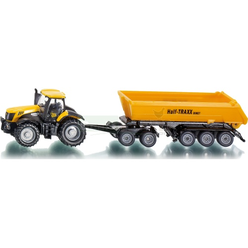 JCB 8250 Tractor With Dolly And Tipping Trailer (SIKU 1858)