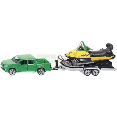 VW Amarok with Trailer and Snowmobile (SIKU 2548)
