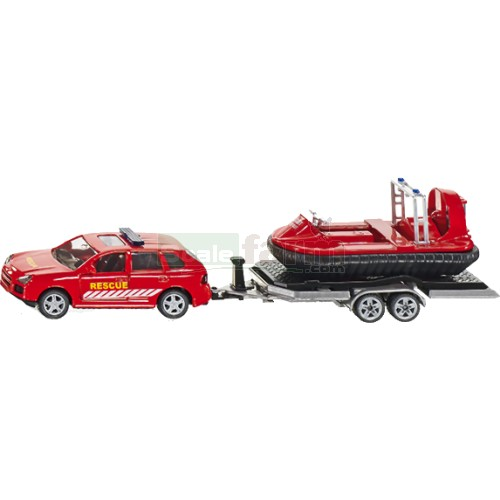 Porsche Cayenne with Trailer and Hovercraft (SIKU 2549)