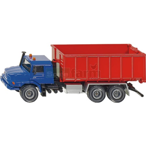 Mercedes Benz Zetros with Roll-Off Skip (SIKU 3546)