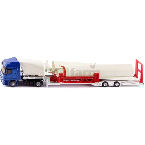 Mercedes Benz Actros Low Loader with Wind Turbine (SIKU 3935)