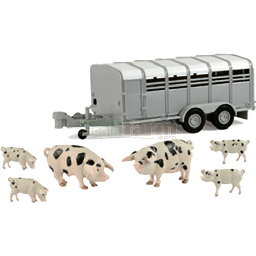 Pig Trailer with Pigs - Big Farm (Britains 42995)