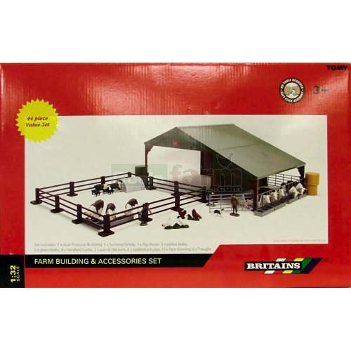 Dual Purpose Building and Accessories Set (Britains 43075A1)