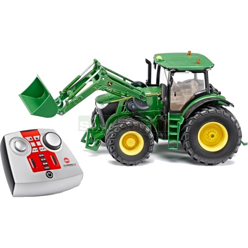 John Deere 7R Tractor with Front Loader (2.4 GHz with Remote Control Handset) (SIKU 6777)