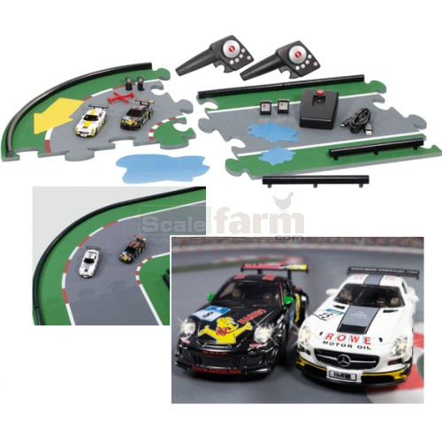 GT Challenge Set with 2 Cars and Racing Track (2.4 GHz with 2 Remote Control Handsets) (SIKU 6810)