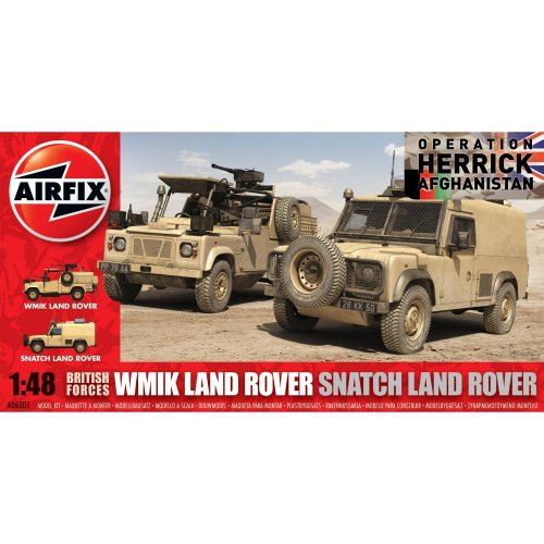 British Forces WMIK and Snatch Land Rover Set (Airfix 06301)