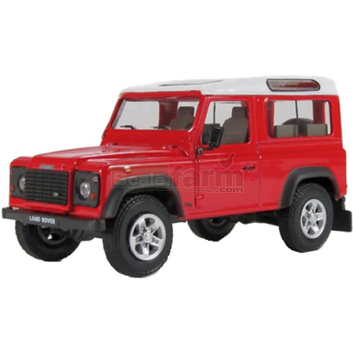 Land Rover Defender - Safari (Red) (Cararama 251PND)
