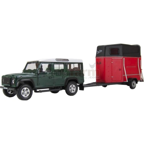Land Rover Defender and Horse Box Trailer (Cararama 483)