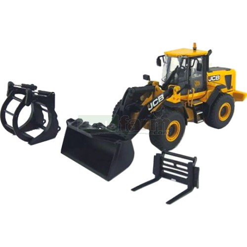 JCB 456 ZX Wheel Loader with Attachments (New Decals) (Motorart 15823)