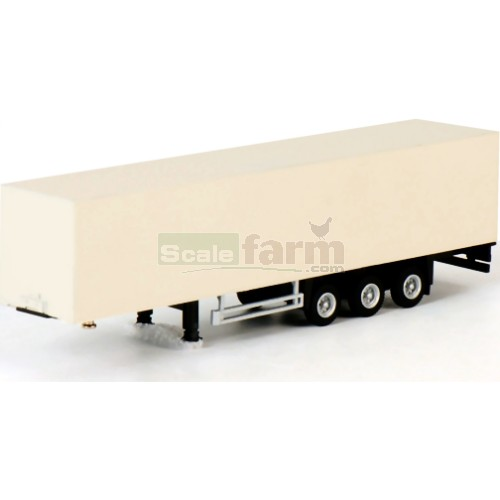 Box Trailer - 3 Axle White (WSI 08-1073)