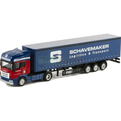 Scania R Topline Truck with Curtainsider Trailer - Schavemaker (WSI 1009)