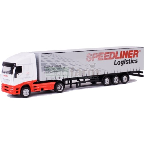 Iveco Stralis Truck with Curtainsider Trailer - Speedliner (WSI 729-3)