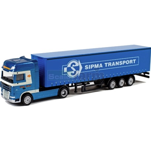 DAF XF105 SSC Truck with Curtainsider Trailer - Sipma (WSI 893)