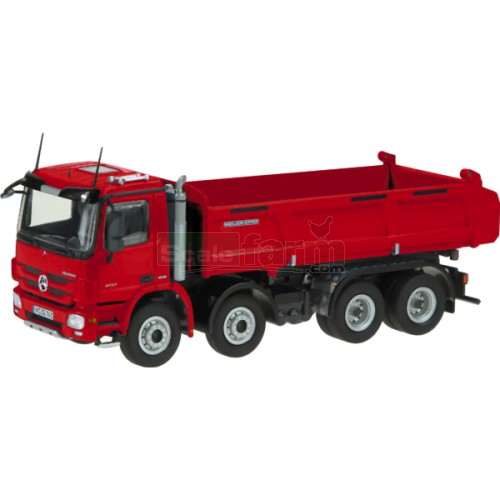 Mercedes Benz Actros 8 x 4 Meiller Tipper - Red (NZG 741/10)
