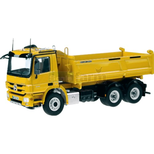 Mercedes Benz Actros 6 x 4 Meiller Tipper - Yellow (NZG 761/60)
