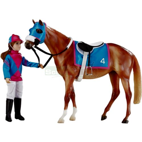 Let's Go Racing Horse and Jockey Set (Breyer 1727)