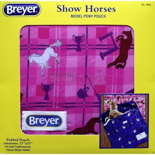 Model Pony Pouch - Show Horses (Pink) (Breyer 2066)