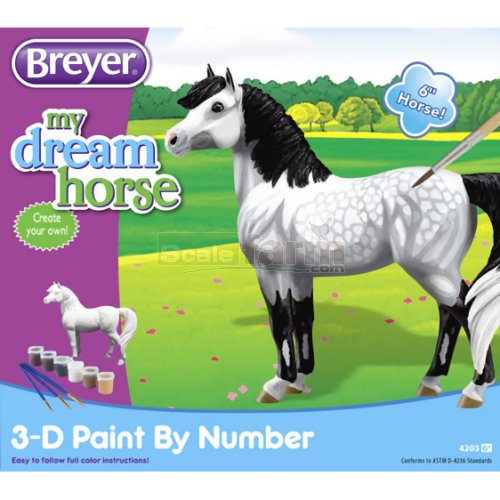 3D Paint by Number - Dapple Horse (Breyer 4203)