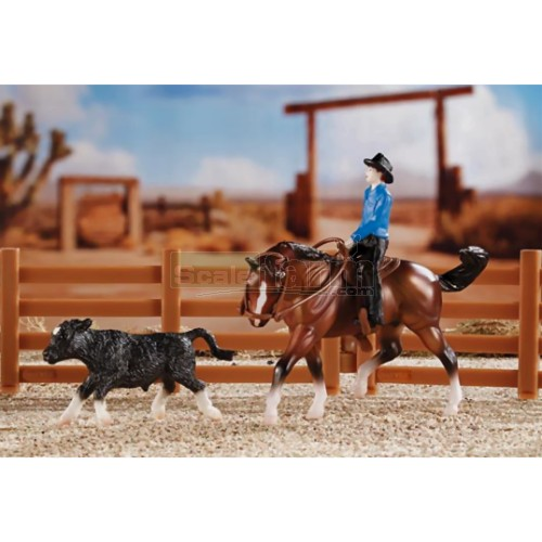 Cutting Horse Play Set (Breyer 5374)