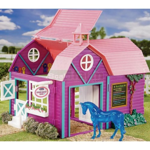 Horse Crazy Barn with Stablemates Horse (Breyer 59208)