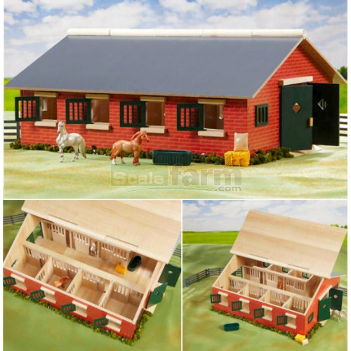 Stablemates Deluxe 7 Stall Stable and Accessories Set (Breyer 59209)