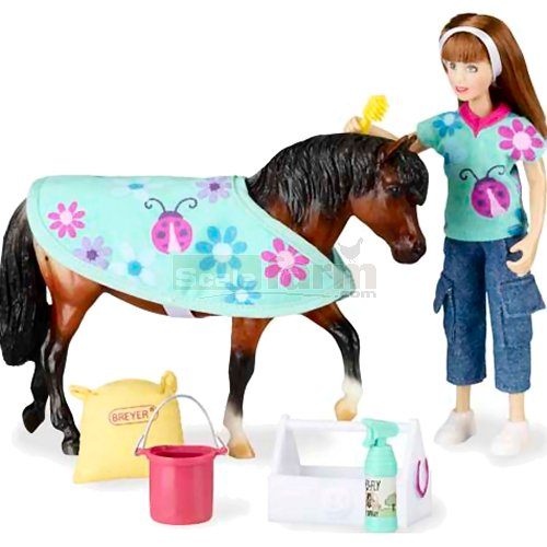 Pony Care - Horse and Accessory Set (Breyer 61048)