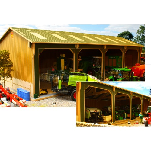 Basics Open Barn - 4 Bay (Brushwood BBB160)