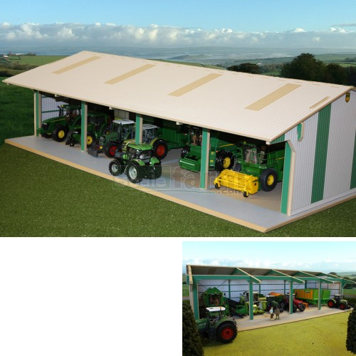 Wooden Euro Style Tractor and Machinery Shed (Brushwood BTEURO1)