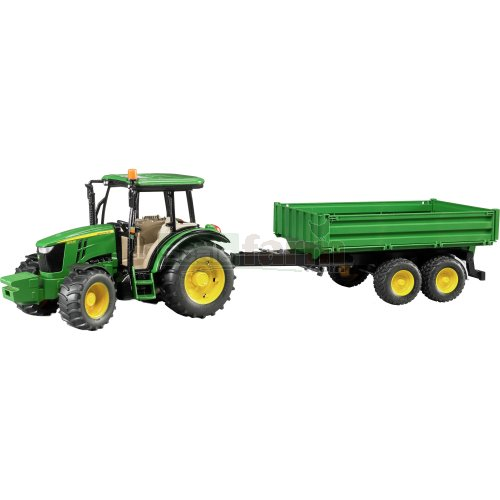 John Deere 5115 M Tractor with Tipping Trailer (Bruder 02108)