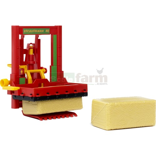 Strautmann HQ Silo Block Cutter with 2 Hay Bales (Bruder 02333)