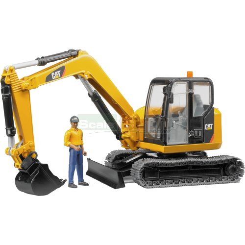 CAT Mini Excavator with Worker Figure (Bruder 02466)