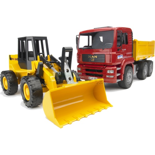 MAN TGA Construction Truck And Articulated Loader (Bruder 02752)