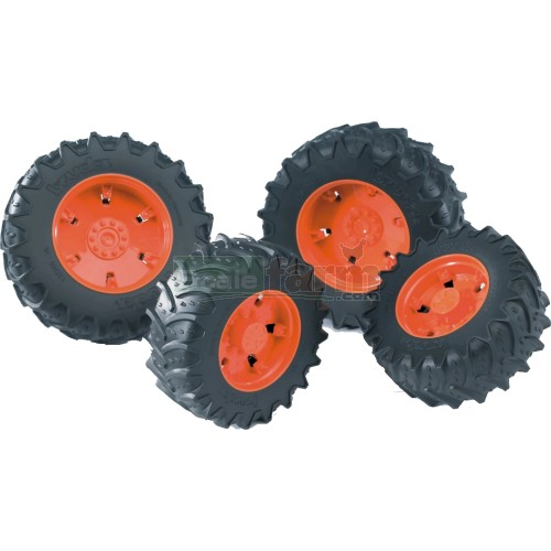 Twin Tyres with Orange Rims - Premium Pro 03000 Series (Bruder 03312)