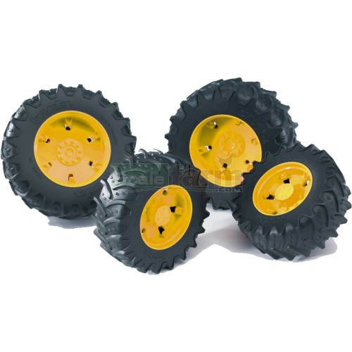 Twin Tyres with Yellow Rims - Premium Pro 03000 Series (Bruder 03314)