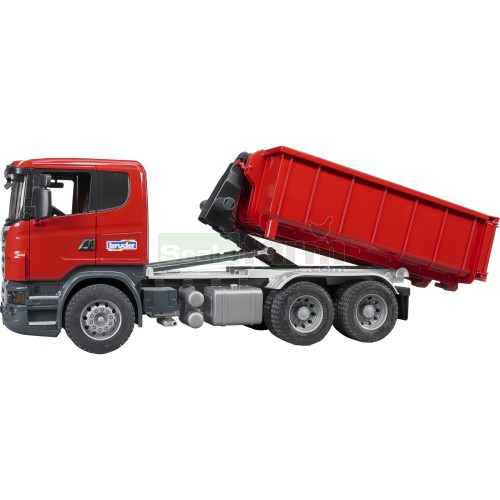 Scania R Series Truck with Roll-Off Container (Bruder 03522)