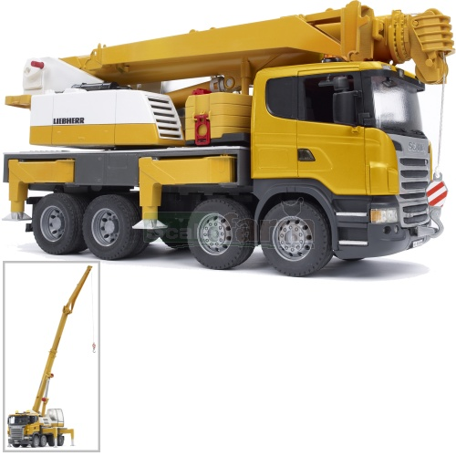 Scania R Series Liebherr Crane Truck with Light and Sound Module (Bruder 03570)