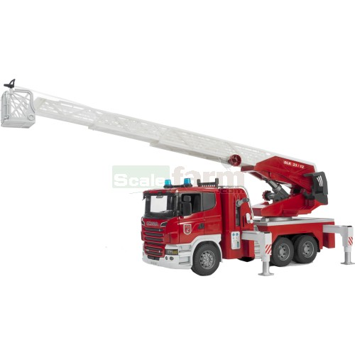 Scania R-series Fire Engine with Water Pump (Bruder 03590)