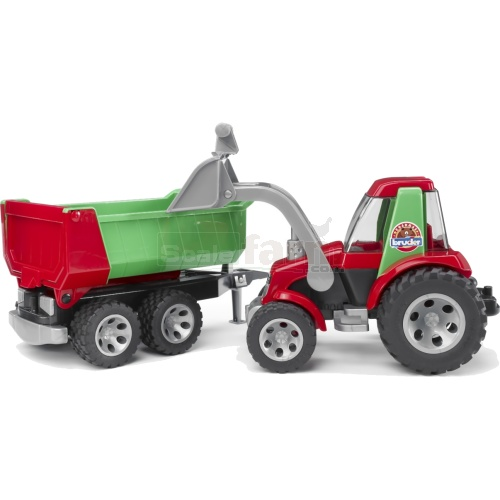 ROADMAX Tractor With Front Loader And Rear Tipper (Bruder 20116)