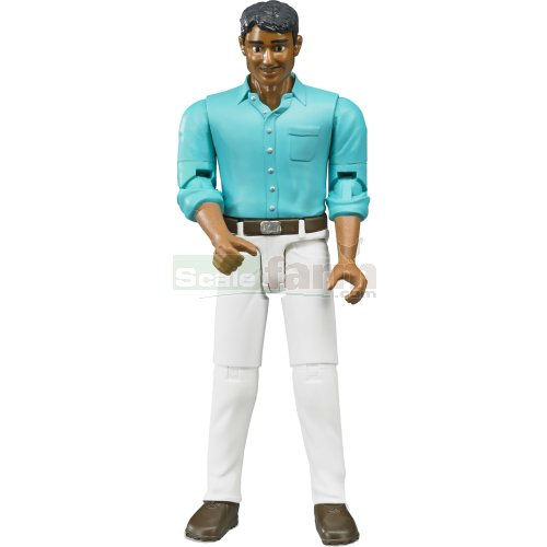 bWorld Man with White Jeans (Bruder 60003)
