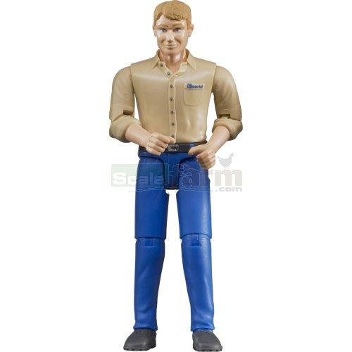 bWorld Man with Blue Trousers (Bruder 60006)