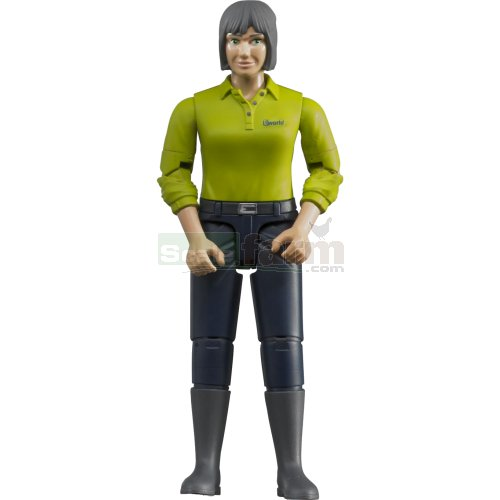 bWorld Woman with Dark Blue Trousers and Boots (Bruder 60405)