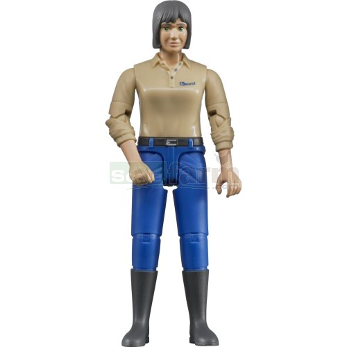 bWorld Woman with Blue Trousers and Boots (Bruder 60406)