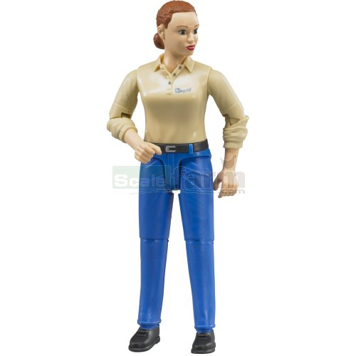 bWorld Woman in Blue Jeans and Shoes (Bruder 60408)