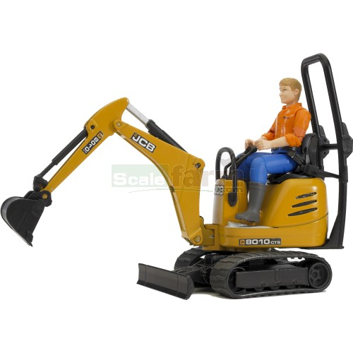 bworld JCB 8010 CTS Micro Excavator with Figure (Bruder 62002)