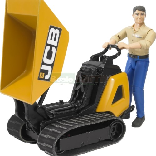 bworld JCB HTD-5 Dumpster with Construction Worker (Bruder 62004)